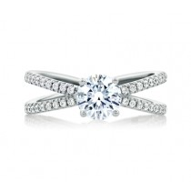 DELICATE SPLIT SHANK WITH ROUND CENTER ENGAGEMENT RING