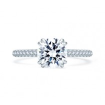 QUILTED PAVÉ ROUND DIAMOND CENTER ENGAGEMENT RING
