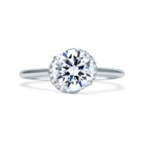 QUILTED MICRO PAVÉ ROUND DIAMOND CENTER HALO ENGAGEMENT RING