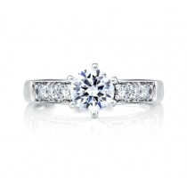 CLASSIC SIDE CHANNEL SET ENGAGEMENT RING