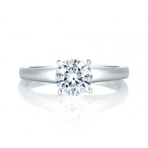 SIMPLE FOUR PRONG SOLITAIRE ENGAGEMENT RING