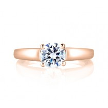 CATHEDRAL SOLITAIRE WITH BEZEL SET PROFILE DIAMOND ENGAGEMENT RING
