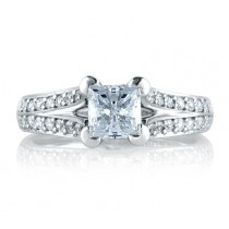 SPLIT PRONG CATHEDRAL PRINCESS ENGAGEMENT RING