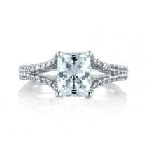 Classic Split Shank Emerald Engagement Ring