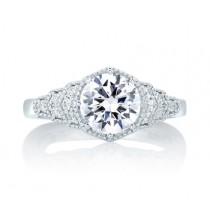 Deco Vintage Step Engagement Ring