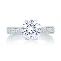 Deco Tulip Top Vintage Engagement Ring
