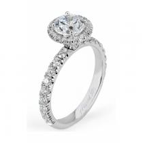 Michael M Europa Pave Halo Diamond Engagement Ring