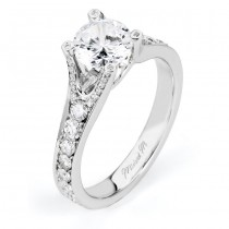 18 KARAT WHITE GOLD WEDDING RING with diamonds - R507-1 - Michael M