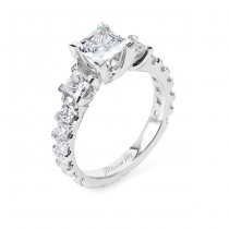 18 KARAT WHITE GOLD WEDDING RING with diamonds - R529-1 - Michael M