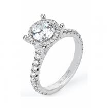 Michael M Europa Halo Diamond Engagement Ring