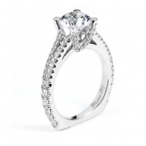 18 KARAT WHITE GOLD WEDDING RING with diamonds - R557-1.5 - Michael M