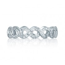 Vine Motif Eternity Stackable Anniversary Ring
