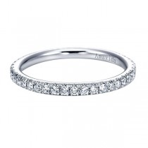 18k White Gold Straight Diamond Wedding Band