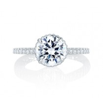 Alluring Hand Set Pav? Diamond Halo Quilted Engagement Ring
