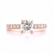 Bridal Rings Company Diamond Engagement Ring in 18K Rose Gold