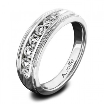 14 KARAT WHITE GOLD GENTS RING with diamonds - 2276G