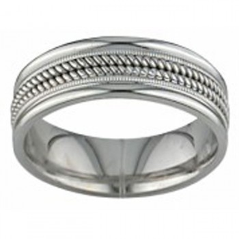 14 KARAT WHITE GOLD GENTS BAND - 2344G