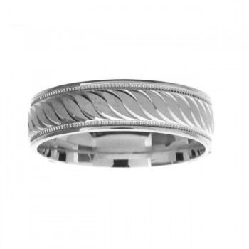 14 KARAT WHITE GOLD GENTS BAND - 2942G