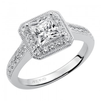 """Sashan"" Diamond Halo Engagement Ring"