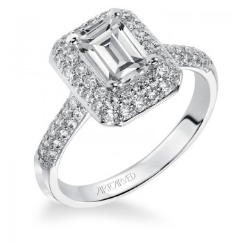 """Betsy"" Emerald Cut Diamond Engagement Ring"