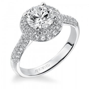 """Betsy"" Diamond Halo Engagement Ring"