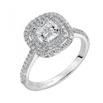 Tara' Cushion Cut Diamond Engagement Ring  - 31-V429EUW