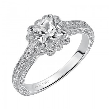 Amaya' Diamond Halo Engagement Ring  - 31-V435EUW-E.00
