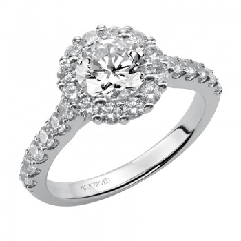 """Yolanda"" Diamond Halo Engagement Ring"