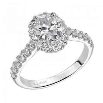 """Genesis"" Diamond Halo Engagement Ring"