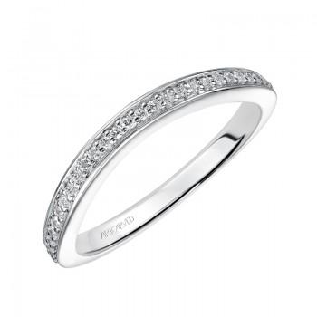 ArtCarved 'Flora' Diamond Wedding Band in 14K White Gold - 31-V448W