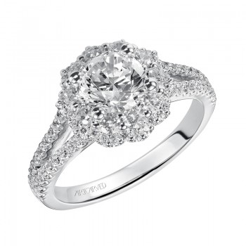 Penelope' Diamond Halo Engagement Ring  - 31-V451ERW-E.00