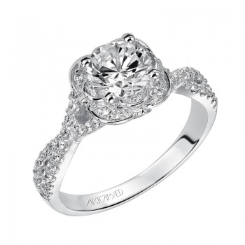 Candice' Enchanted Halo Engagement Ring  - 31-V459ERW-E.00