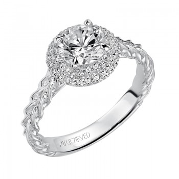 Mallory' Double Halo Engagement Ring - 31-V463ERW-E.00