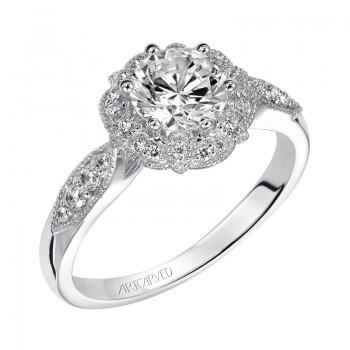 """""""Francesca"""" Enchanted Halo Diamond Engagement Ring"""