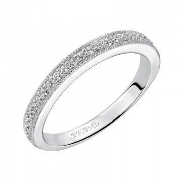 ArtCarved 'Harper' Diamond Wedding Band in 14K White Gold  - 31-V504W