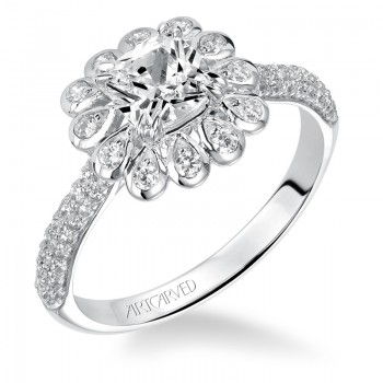 Idalis' Pave Halo Engagement Ring  - 31-V539EUW-E.00