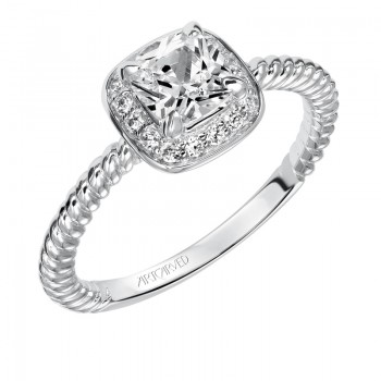 Darla' Halo Prong Set Diamond Engagement Ring - 31-V547EUW-E.00