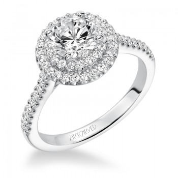 """Melinda"" Diamond Double Halo Engagement Ring"
