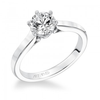 """Chivon"" Diamond Solitaire Engagement Ring"