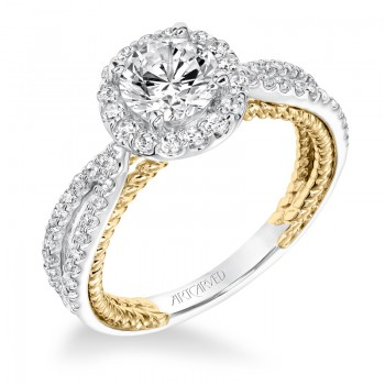 Marin' Contemporary Diamond Halo Engagement Ring  - 31-V655ERA-E.00
