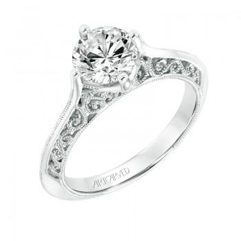 """Jessamine"" Vintage Solitaire Diamond Engagement Ring"
