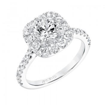 Frances' Classic Diamond Halo Engagement Ring - 31-V734ERW