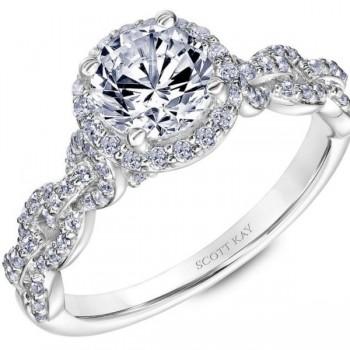 White Gold Scott Kay Diamond Engagement Ring