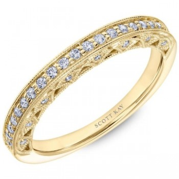 Yellow Gold Scott Kay Diamond Wedding Band