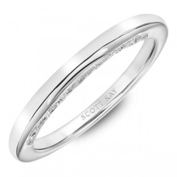 White Gold Scott Kay Wedding Band