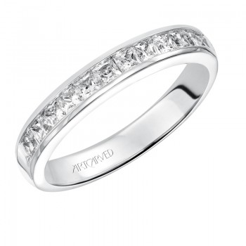 Wedding Band with Channel Set Diamonds. - 33-V60D4W