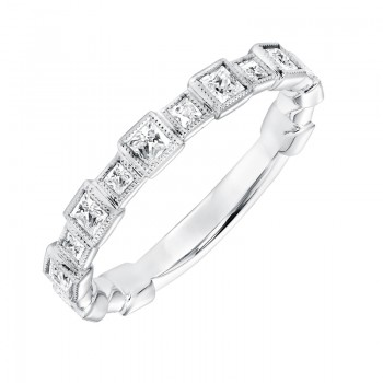 Stackable Band with Bezel set Diamonds - 33-V9151W
