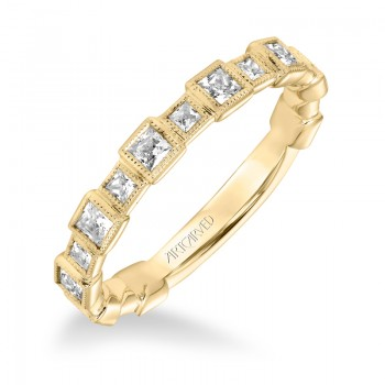 Stackable Band with Bezel set Diamonds - 33-V9151Y