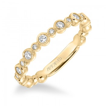 ArtCarved Diamond Stackable Band in 14K Yellow Gold