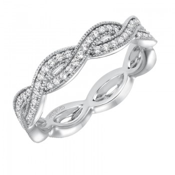 Artcarved 14k White Gold Twisted Diamond Band